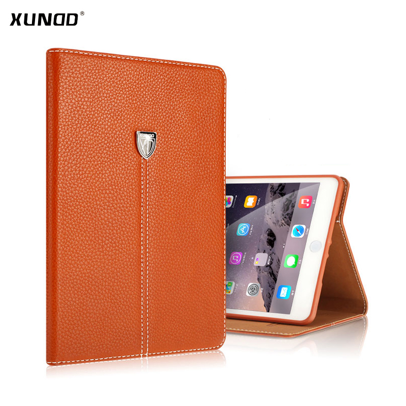 Xundd Luxury PU Leather Stand Wallet Case For iPad mini 1/2/3 Retina Shockproof Flip Cover Business case for ipad mini 1/2/3