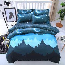 Роскошные спокойной ночи Корона постельного белья 3/4 шт. геометрический узор кровать подкладки: пододеяльник, простынь, накидка для подушек набор