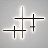 L Современный свет Роскошные T настенный светодио дный светильник светодиодный приглушить простой дизайн гостиная Проход Коридор Спальня п