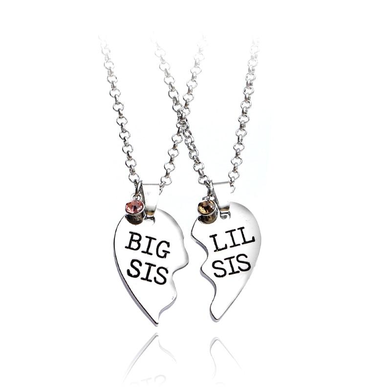 Ожерелье с подвеской в виде большого сердца, 2 шт./компл.