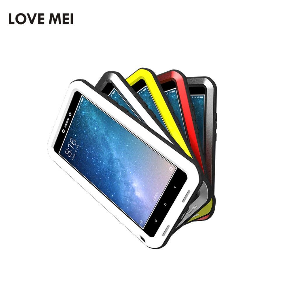 imágenes para AMOR MEI Caso Impermeable Del Metal Para Xiaomi Max 2 Cubierta A Prueba de Golpes para Xiaomi mi Max2 Max 2 Caja De Protección De Aluminio Gorilla Glass