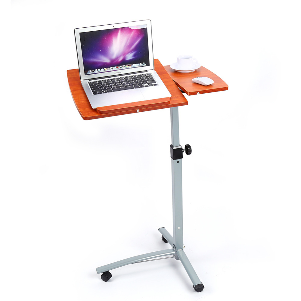 Portable folding laptop notebook table desk adjustable laptop stand - W Angle Height Adjustable Portable Rolling Laptop Notebook Desk Over Sofa Bed Computer Table Stand Convenient