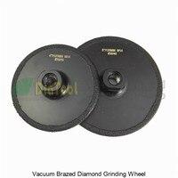 Diatool 2 pcs (105mm + 125mm) 진공 브레이징 다이아몬드 플랫 그라인딩 휠 m14 그릿 #30 코팅 다이아몬드 그라인더 디스크