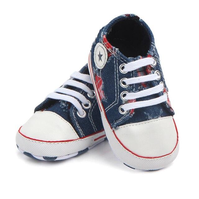 14e7d75ad2c7a Mode Bleu Jeans Infant Toddler Bébé Chaussures Filles Garçons Chaussons  Enfants Sports Sneakers Enfants Chaussures Bebe