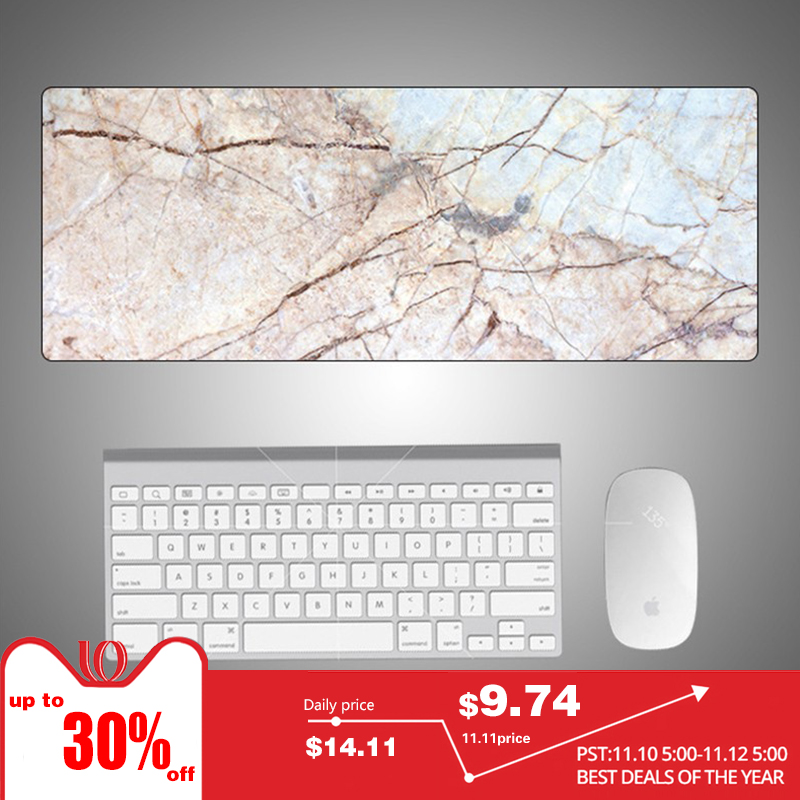Hot Sales Speed Version Large Gaming Mouse Pad Mat For Laptop Computer Desk Pad Keyboard Creative Marble Color 800*300*2mm l 15 gaming mouse pad mat black 213 x 270 x 2mm