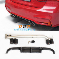 Best Quality the Simple type for Modified Car Rear Carbon fibre Exhaust Pipe Muffler Tip fit 17 18 BMW 3 Series modified M3,320