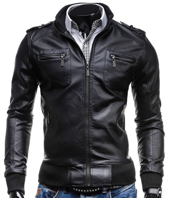 ZOGAA Men Leather Jacket...
