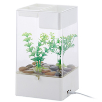 PETFORU No need Change Water Lazy Mini Fighting Fish Tank Standard Configuration with Colorful Lighting Effect