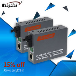 1.25G 1 1 Porta Óptica Gigabit Ethernet Conversor de Mídia Conversor De Fibra de Porta Elétrica SC 3 KM Transceiver Óptico 1 par