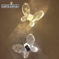 Bubble Crystal светодиодный настенный светильник бабочка минималистичный современный гостиная настенные светильники для спальни прикроватный б