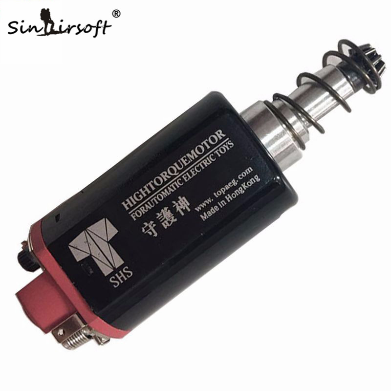 SINAIRSOFT SHS Toys High Torque High Speed AEG Motor Long Axle Type For Airsoft SCAR P90 G3 M4 M16 Ver.2 Gearbox Accessories sinairsoft electronic key aeg merf 3 2 for aeg guns battery protection fuse lipo lifepo4 liion nicd m4 ak47
