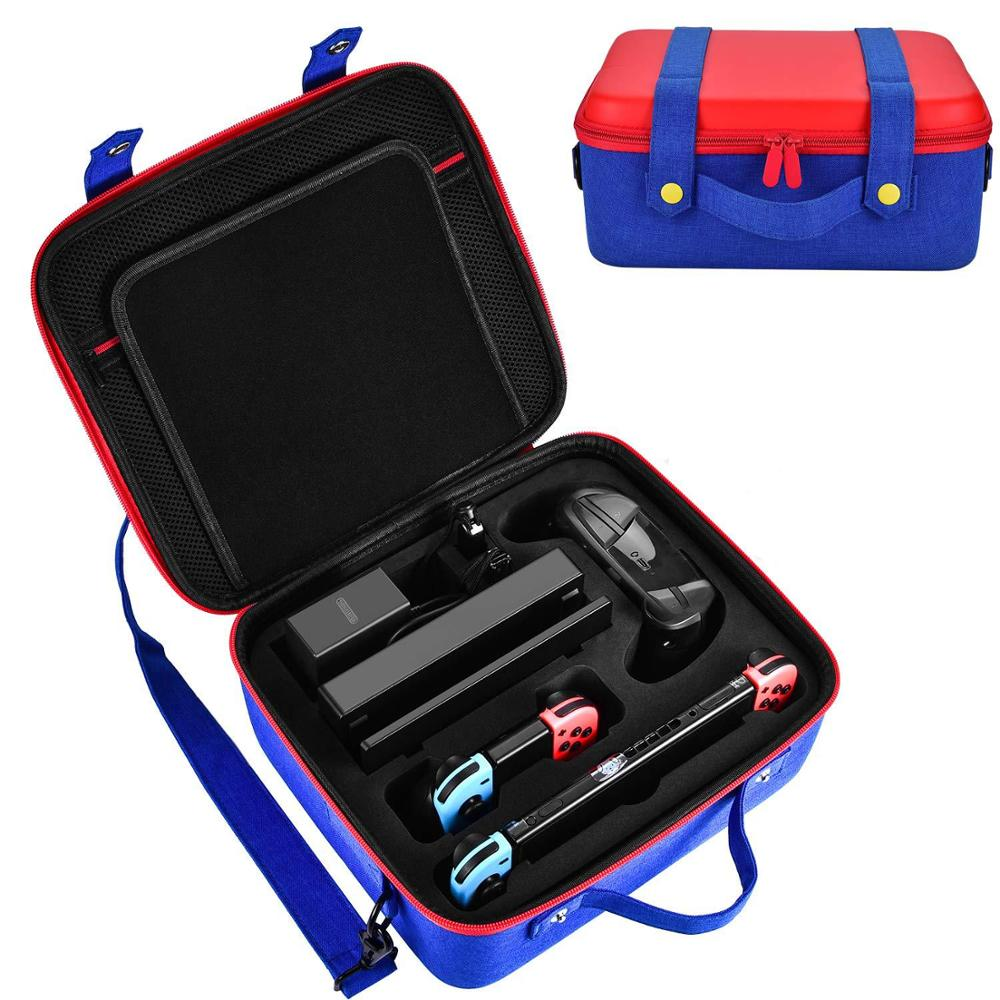 Portable Hard Shell Protective Storage Carrying Bag Case Big Capacity Case Cover Zipper Protective Game Shell for Nintend Switch