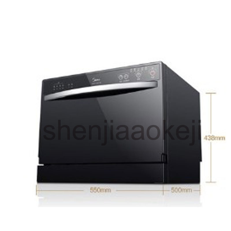 220v 1160W 1pc Household Automatic Dishwasher Intelligent Embedded, Smart Small Desktop Dishwashers