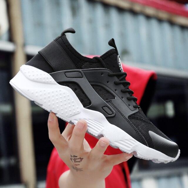 2019 Casual Schoenen Mannen Platte Sneakers Ademend Mode Mesh Heren Trainers Schoenen Zomer Sneakers Mannen Loopschoenen Big Size 45