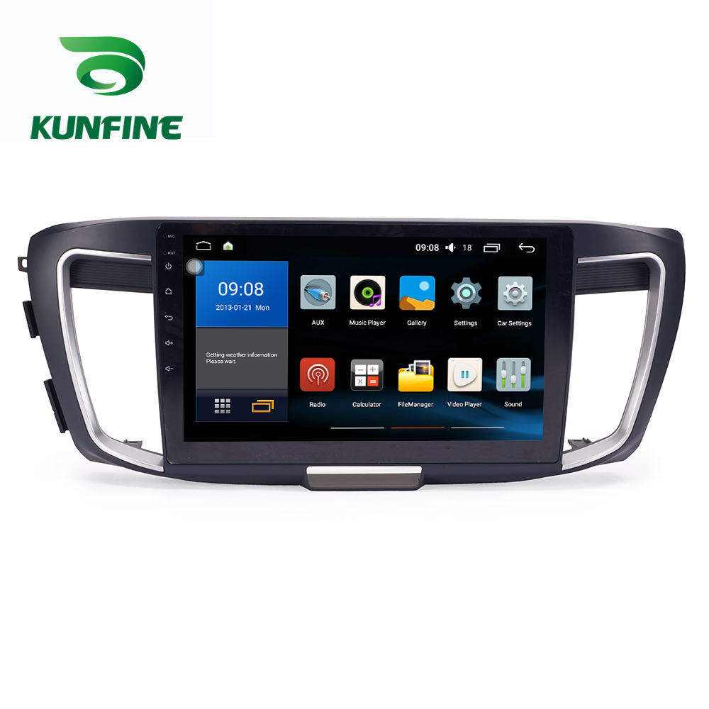 Octa Core 1024*600 Android 7.1 Car DVD GPS Navigation Player Deckless Car Stereo For Honda Accord 2014-2017 Radio Headunit WIFI цена