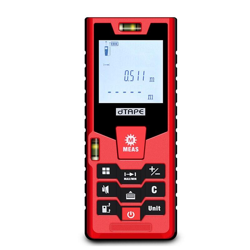 100 m laser rangefinder digital laser tape measure  area volume measuring tool  лазерный дальномер mini desktop laser tracing measuring tape