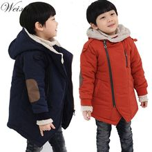 Boys Winter Coat Kids Blue Fashion Hooded Zipper Coats & Jacket Children's Boy Thick Fur Warm Outwear Clothes Teenager Snow Coat brand baby infant girls fur winter warm coat 2018 cloak jacket thick warm clothes baby girl cute hooded long sleeve coats jacket