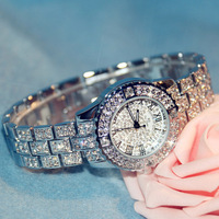 New Arrival Brand Women Steel Band Watch Lady Luxury Jewelry Diamond Watch Rhinestone Bracelet Full Crystal Bangle