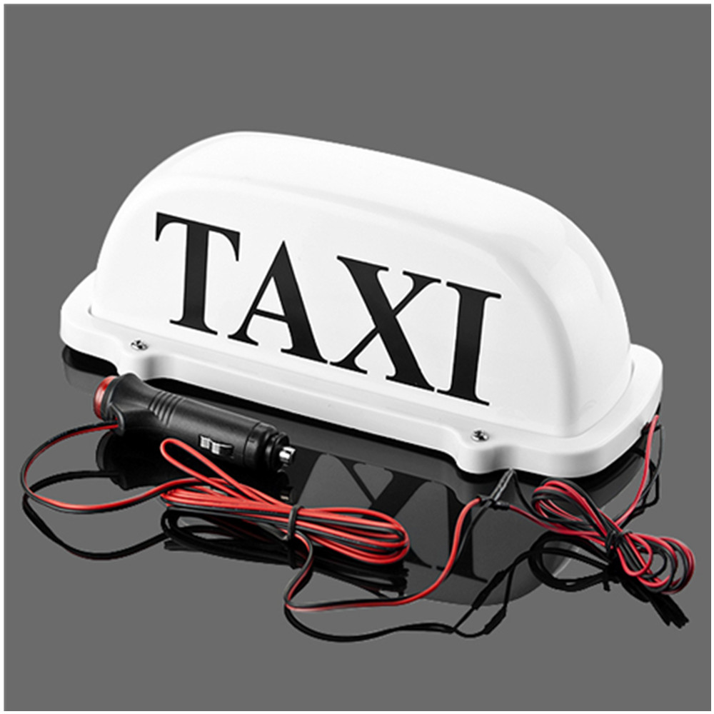 Taxi Top Light / Ny LED tak takskylt 12V med magnetisk bas vit taxikupelljus