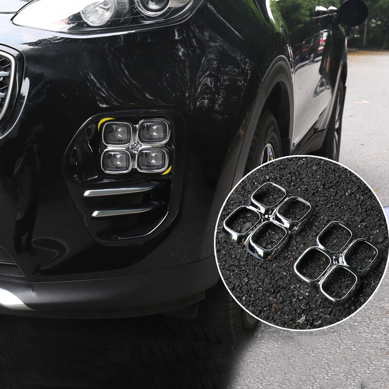 Chrome Central Control Cover ABS Trim Garnish Molding For Kia Sportage 2010-2015