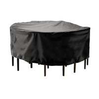 210D Polyester Round Outdoor Furniture Cover Garden Patio Table Chair Protective Case Rainproof Dustproof Cover