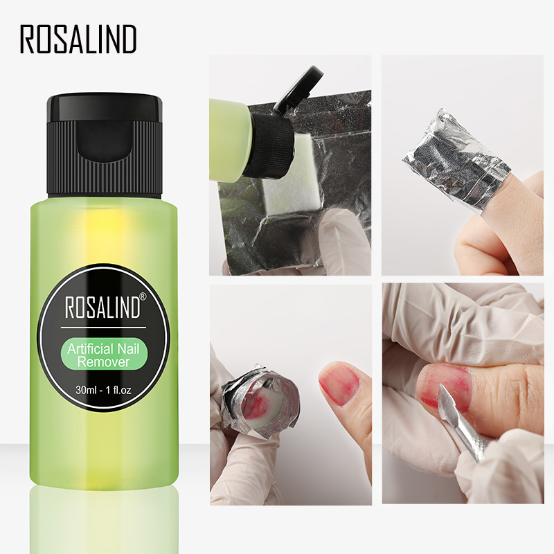 ROSALIND 1PC Removes Excess Gel Enhance Shine Sticky Remover Nail Polish UV Gel Sticky Artificial Nail Remover Nail Art