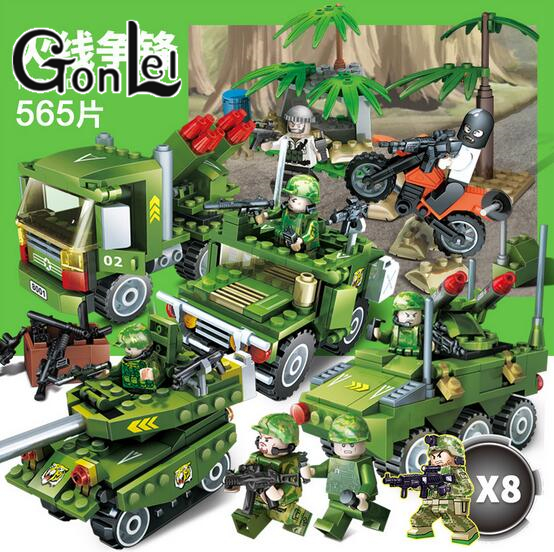 GonLeI Army SWAT Military & Weapon Special Force Kid Toy Gift Building Blocks Brick compatible with lepin gonlei 6 in1 mini task force jungle commando figures weapon building blocks military army camp model bricks toy compatible doll