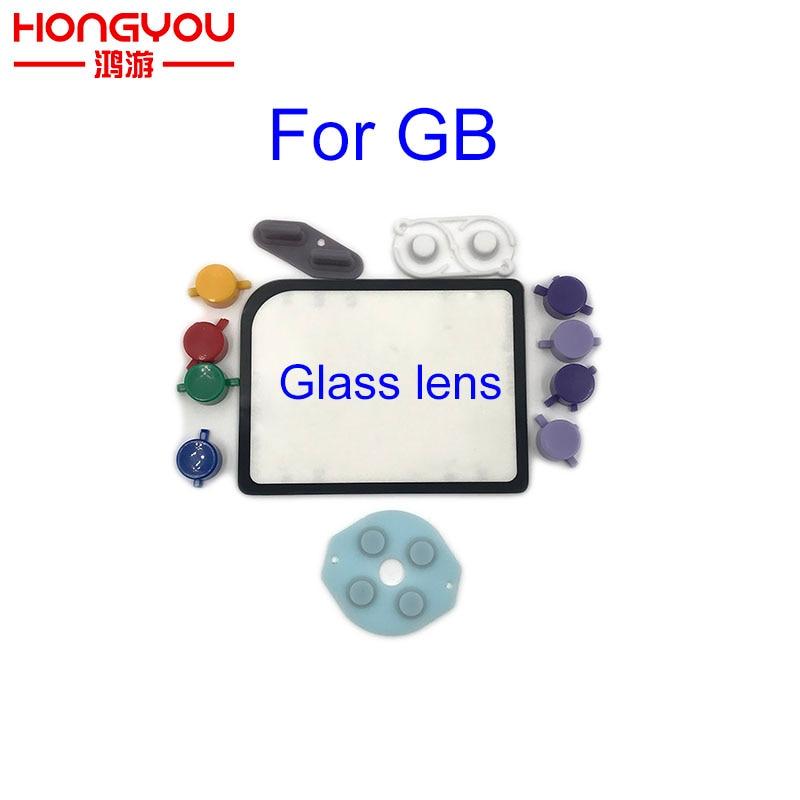 10set For Nintendo Game Boy Zero DMG-01 Plastic Buttons Conductive Rubber Mod Kit Glass Lens Protector For Raspberry Pi DIY