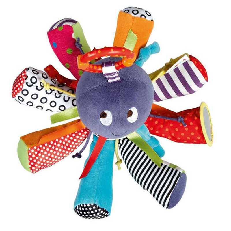 Color Octopus Baby Toy Bed Hanging Magic Mirror Baby Toy Bell con BB - Giocattoli per bambini