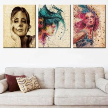 Female Portraits Room Wall Art Pictures Poster Paintings By Numbers Living Room Hanging Canvas Painting Shaft Scroll Painting