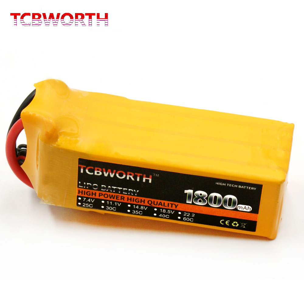 TCBWORTH RC Drone LiPo battery 6S 22.2V 1800mAh 60C Max 120C For RC Airplane Quadrotor RC Li-ion battery 1s 2s 3s 4s 5s 6s 7s 8s lipo battery balance connector for rc model battery esc