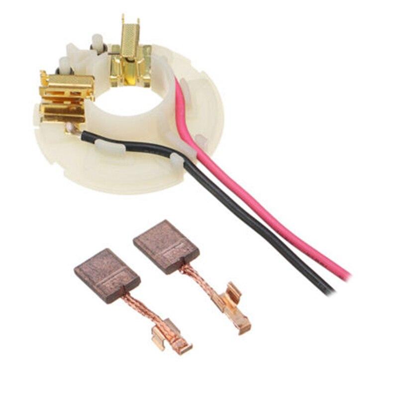 2*Carbon Brush + 1*Brush Holder Kit For Makita CB440 638991-1 638614-1 DF458D DHP458 Kit Carbon Brush Replacements