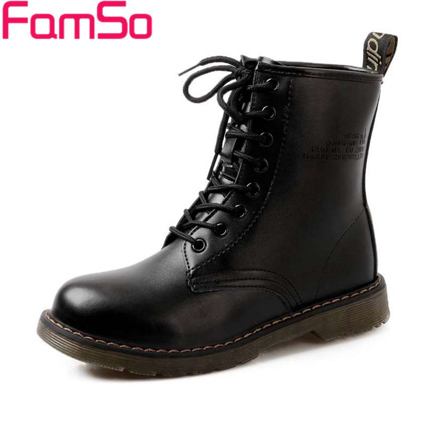 Free shipping 2016 new Sexy font b Women b font martin Boots Black Spring Autumn Ankle