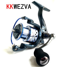 KKWEZVA Metal Deep cup 2000H-5000H Spinning Fishing Reel 5.5:1 No gap Full Wheel + Rocker And EVA hold