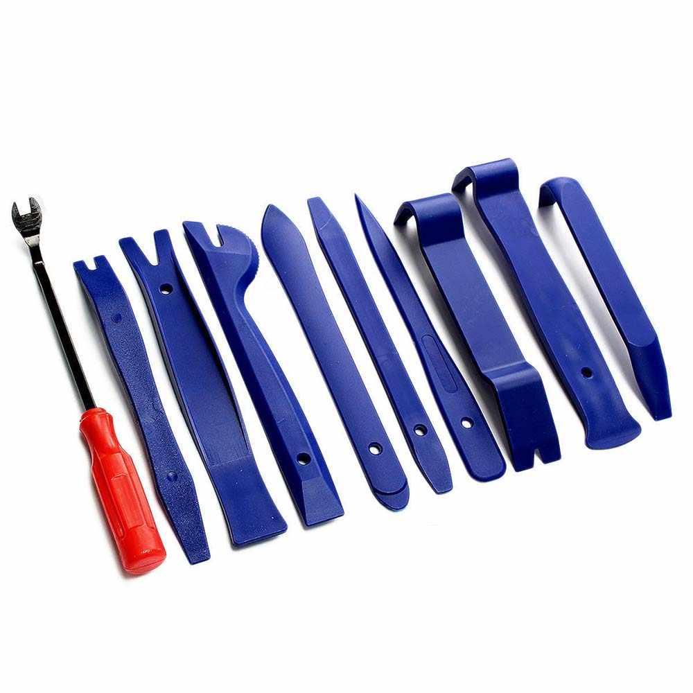 12 قطعة من أدوات إصلاح تركيب حواف البلاستيك الداخلية للسيارات لوحة لوحة القيادة أدوات التفكيك DVD ستيريو الصوت مجددة