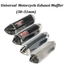 38~51mm Motorcycle Exhaust Muffler Modified With Yo Sticker Moto Escape For Ninja 250 Z250 Ninja 300 Ninja 250R Z250SL Ninja 400