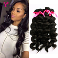 High Quality 8A Malaysian Virgin Hair Loose Wave 4 Bundles Malaysian Loose Wave 100% wavy human hair weave Malaysian wavy hair