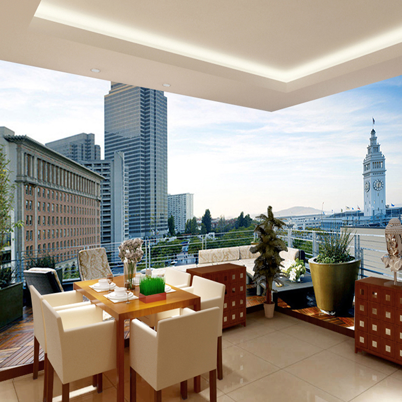 Custom HD Photo 3d Wallpaper Mural City Building 3D