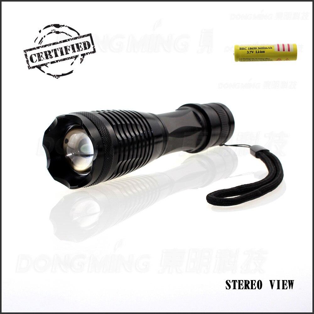 Hot Sale lanterna 5000LM Tactical CREE XML-T6 LED lanterna reîncărcabilă LED + 1 x 18650 baterie reîncărcabilă preț scăzut
