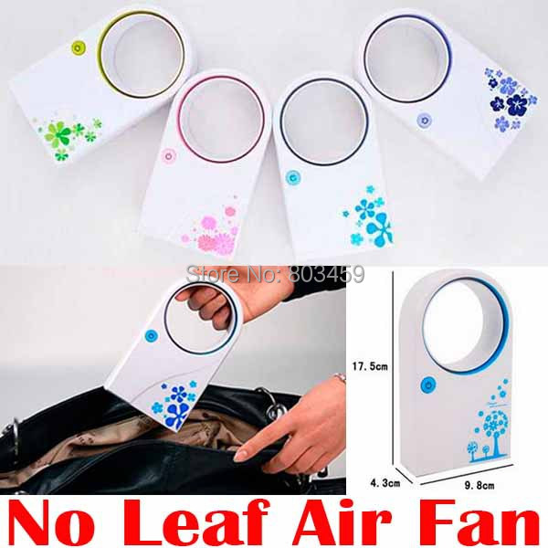 Portable Handheld Mini Air Conditioner Bladeless Fan Desktop W/O No Leaf Air Cooling Fan ultra quiet USB or Battery condition portable 8 pin air fan