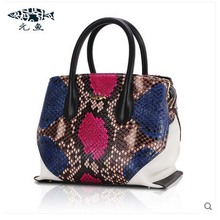 yuanyu 2016 new python leather bag ladies leather handbag bag snakeskin handbag high-capacity simple women bag