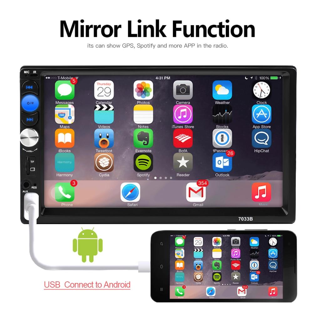 Unterhaltungselektronik 7033b Auto Stereo Radio 2 Din Mp5 Player Mirrorlink Android 2din Auto Radio 7 Zoll Presse Bildschirm Hd Bluetooth Multimedia Autoradi