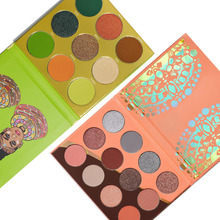 Nubian Series Matte Shimmer Eyeshadow Palette Mix of Corals, Peaches and Greys
