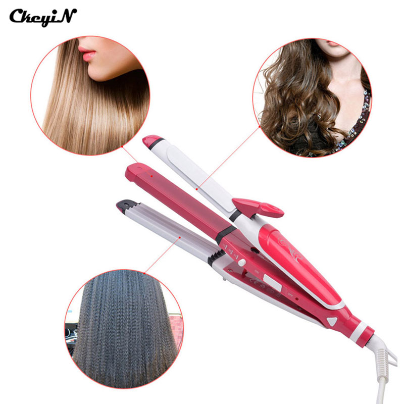 Hair Curler Roller Curling Wand Iron Curl Styler Tools Machine Styling Perm Curlers Ceramic Straightener Corn