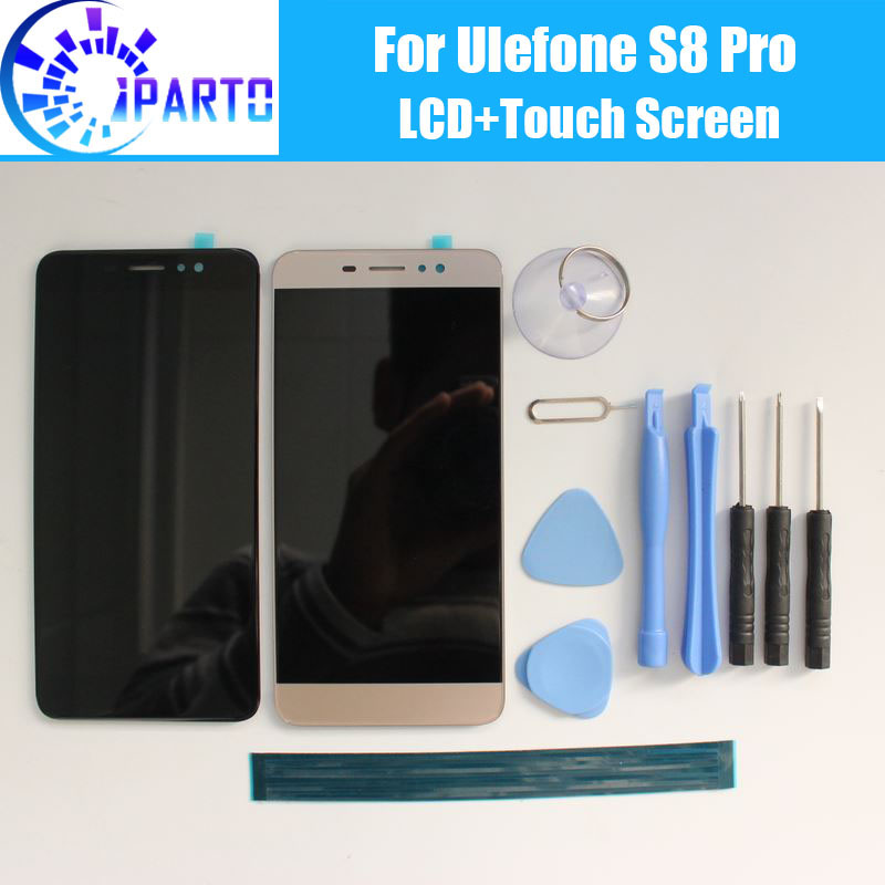 Ulefone S8 Pro LCD Display+Touch Screen 100% Original LCD Digitizer Glass Panel Replacement For Ulefone S8 Pro +tool+adhesive