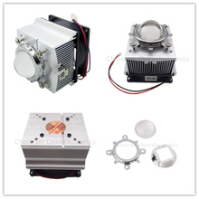 4pcs LED Heatsink Cooling Radiator + 60 90 120 Degrees Lenes Reflector Bracket Fans For High Power 20W 30W 50W 100W