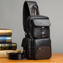 GUMST Leather Crossbody Bags for Men Messenger Chest Bag 2020 New Fashion Casual Bag Waterproof PU Single Shoulder Bags