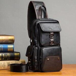 Image 1 - GUMST sacs à bandoulière en cuir pour hommes, sacoche poitrine, nouvelle collection 2020 étanche sac décontracté tendance