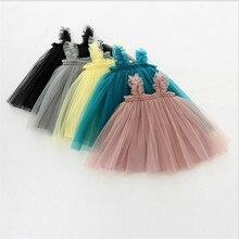 Детские платья для крещения, дня рождения, для детей от 1 до 2 лет, Одежда для новорожденных Платья-пачки летние платья для девочек, одежда для маленьких девочек