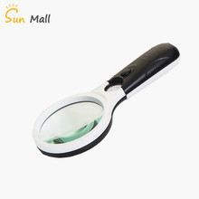 Handheld 3X 45X Illuminated Magnifier Microscope Magnifying Glass Aid Reading for Seniors loupe Jewelry Repair Tool With 3 LED
